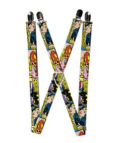 Look at this Wonder Woman, Supergirl & Batgirl Suspenders - Adult on #zulily today!