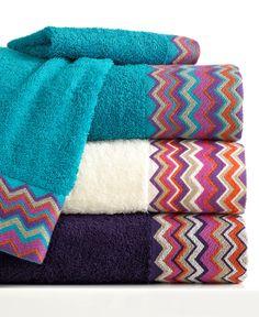 I need new Washcloths!! Bianca Bath Towels, Rainbow Chevron Collection - Bath Towels - Bed & Bath - Macy's