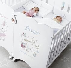 Twin Baby Beds, Baby Cribs For Twins, Twin Baby Rooms, Twin Baby Photos, Twin Cribs, Nursery Twins, Baby Bedroom, Twin Babies, Baby Room Decor