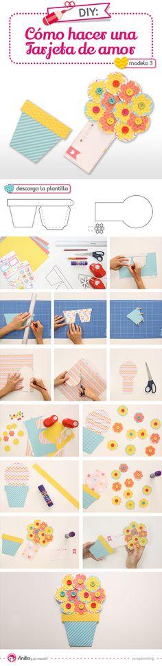 Tarjetas para regalar de AMOR y AMISTAD. Como hacer tarjetas de manera fácil. Ideas de tarjetas #handmade #craft #scrap #cards #scrapbooking #amor #love #corazodepapel DIY