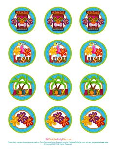 Luau Party - Template for Cupcake Toppers (or anything along those lines)