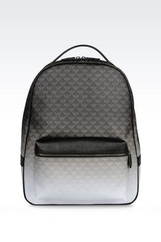 1e7e6c8f70d6 Emporio Armani Men Backpack - BACKPACK IN LOGO PATTERNED PVC Emporio Armani  Official Online Store Emporio