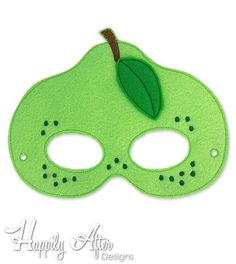 Pear Mask Embroidery Design pear mask machine embroidery ITH mask in the hoop mask embroider mask 57 610 fruit mask fruit costume Food Costumes For Kids, Fruit Costumes, Image Chart, Animal Masks, Applique Embroidery Designs, Mask Party, Sewing Patterns Free, Pattern Sewing, Mask Design