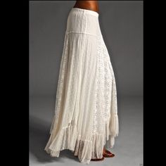 Selling this Free People Limited Edition ivory Lace Maxi Skirt in my Poshmark closet! My username is: richbororiches. #shopmycloset #poshmark #fashion #shopping #style #forsale #Free People #Dresses
