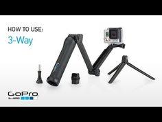 3 Way - Soporte para cámaras GoPro - Empuñadura, brazo alargador o trípode