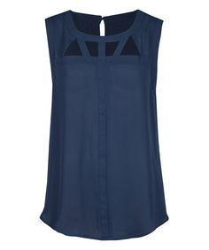 Look at this Deep Navy Peekaboo Shell on #zulily today!