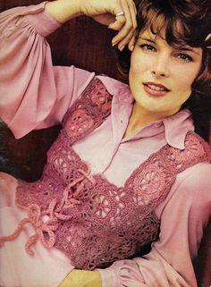 Vintage Crochet Victorian Granny Lace Vest PDF Pattern. $2.50, via Etsy.