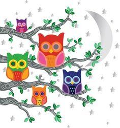 WallCandy Nightly News Owls Decals | 2Modern