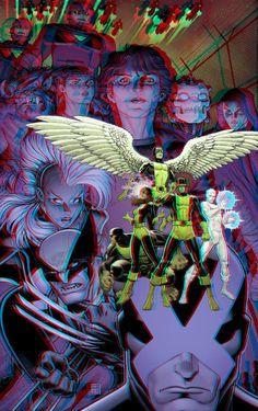 X-Men Battle of the Atom in 3D Anaglyph by xmancyclops on deviantART