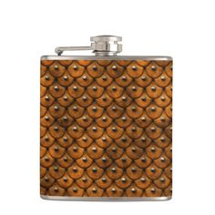 Studded leather 1 Wrapped Flask