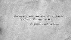 Lyric Quotes, Tattoo Quotes, Stream Of Consciousness, All Band, Im Scared, I'm Afraid, Music Is Life, Song Lyrics