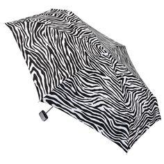 totes Manual Purse Umbrella with Case - Zebra Stripe, Zebra Stripes