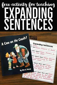 This book illustrates the perfect lesson introduction to teach students to lengthen their sentences. Download a free copy of my expanding sentences activity. | detailed sentences activities | longer sentences | first grade writing activities | second grade writing prompts primary | expanding sentences activities  | tpt printables | tpt freebies