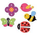 Learning Essentials™ Magnetic Counting Garden Puzzles