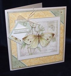 Joanna Sheen project - This colour scheme is just gorgeous isn't it! Vintage Butterfly, Butterfly Cards, Cardmaking, Color Schemes, Projects To Try, Stamp, Inspiration, Butterflies, Cards