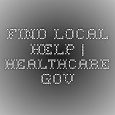 Find Local Help | HealthCare.gov