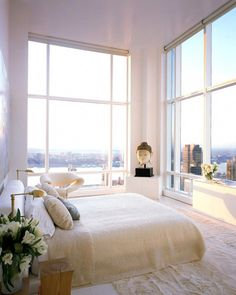Master Bedroom Interior, Home Interior, Bedroom Decor, Interior Ideas, City Bedroom, Bedroom Interiors, Master Bedrooms, New York Bedroom, Condo Bedroom
