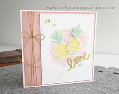 Sarah-Jane Rae cardsandacuppa: Stampin' Up! UK Order Online 24/7: Lil' Inkers Pineapple Panache Birthday Card for my Daughter!