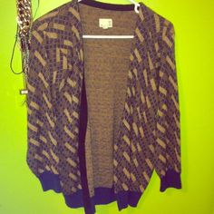 👴 Vintage Cardigan Sweater 👴 vintage sweater from Urban Outfitters. It's from their Urban Renewal line, where they use actual vintage fabrics or find it at a thrift store. Fits a small or medium. Only been worn once! (if you want more pics, ask) Urban Outfitters Sweaters Cardigans