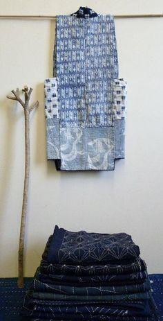 A Sashiko Stitched Vest from Tohoku indigo Shibori, Sashiko Embroidery, Japanese Embroidery, Japanese Textiles, Japanese Fabric, Boro, Indigo, Running Stitch, Tie Dye