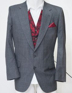 Burberry Windowpane Herringbone Blazer Suit Sport Jacket Coat Barneys Mens 40R #Burberry #TwoButton
