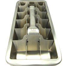 Metal ice cube tray.