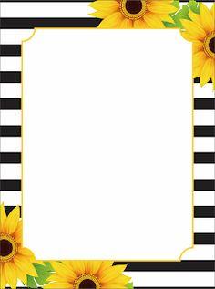 Flower Background Wallpaper, Sunflower Wallpaper, Flower Backgrounds, Sunflower Wedding Decorations, Diy Birthday Decorations, Page Borders Design, Border Design, 1st Grade Reading Worksheets, Alphabet Tracing Worksheets