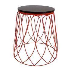 INDIGI DESIGNS | Loop Metal Side Table in Red - Furniture - 5rooms.com