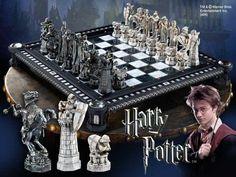 Harry Potter chess set.