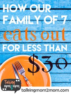 This is how we eat out at restaurants regularly on the cheap. Here are my BEST 10 Tips and actual restaurant names with what we buy and price list - great for large families! Best Thrifty Tips Living On A Budget, Family Budget, Frugal Living Tips, Big Family, Frugal Family, Family Life, Cooking For A Crowd, Cooking On A Budget, Budget Meals