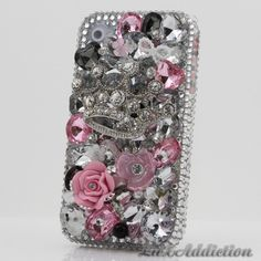 SWAROVSKI Crystal bling case for all phone device models  ----This makes me want a iphone!!