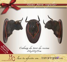 mini cabezas de toros de resina... Ideal para decoración. tororegalo 93e702a340b
