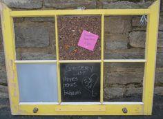 6 pane Vintage Window Organizer chalk board by oZdOinGItagaiN, $40.00