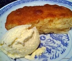 Eves (Apple) Pudding Cake - A lovely dessert, easy to make and wonderful served warm from the oven with ice cream or custard. Try it!  Lovefoodies