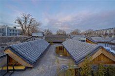 archstudio's tea house occupies a renovated hutong in beijing