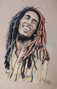 """""""Bob Marley"""" http://fineartamerica.com/products/bob-marley-melanie-d-framed-print.html"""