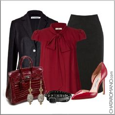 CHATA'S DAILY TIP: I am always fascinated as to how many women are scared of wearing red – this is such a lovely example showing you how to wear red as an accent colour if you are nervous of wearing red from head to toe! COPY CREDIT: Chata Romano http://chataromano.com/consultant/chata-romano/ IMAGE CREDIT: Style and Fashion's Facebook page.
