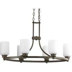 Progress Lighting Orbitz 6-Light Antique Bronze Chandelier