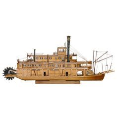 Model Ship | From a unique collection of antique and modern models and miniatures at https://www.1stdibs.com/furniture/more-furniture-collectibles/models-miniatures/