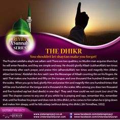 REVIVE A SUNNAH: Don't Let Shaytan Make You Forget This Dhikr!