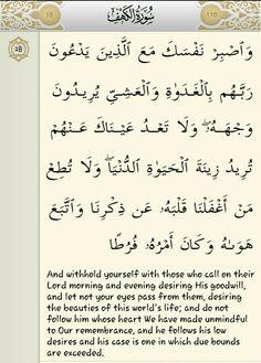 Surah al Kahfi ayat 28