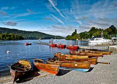 Lake Windermere & row boats