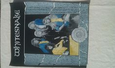 RARE Vintage Whitesnake Best Of Rock Metal jacket Back Patch New Old/Dead stock 1a