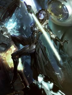 Beautiful Science Fiction, Fantasy and Horror art from all over the world. Star Wars Jedi, Rpg Star Wars, Arte Sci Fi, Sci Fi Art, Darth Revan, Star Wars Personajes, Photo Star, Jedi Sith, Sith Lord
