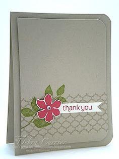 SU! Summer Silhouettes Thank You card