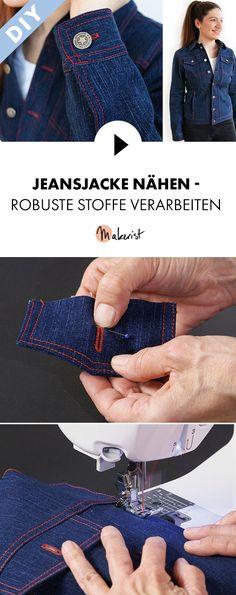 Jeansjacke selber nähen - Schritt für Schritt erklärt im Video-Kurs via Makerist.de