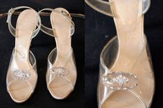 Vintage 1950's Lucite Heels with by wanderlustmobileshop on Etsy