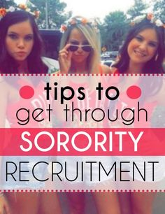 Breathe. Just breathe. It's sorority recruitment time, you're in the midst of hundreds of girls, your Pi Rho Chi (Greek councilor) has just told you there's a possibility of not being called back by any house and a million thoughts are rushing through your head. Wait, what did she just say? Ugh, shoot, hopefully it […]