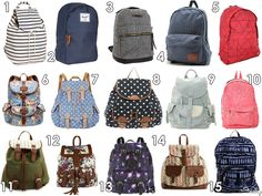 Cute Canvas Backpacks for under 50$