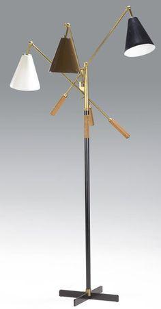 arteluce lighting | 713: GINO SARFATTI / ARTELUCE Triennale floor lamp